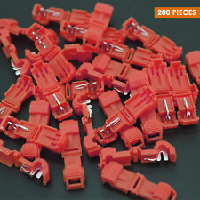 200 T-Taps Insulated Wire Terminal Connectors Combo Set 14-16 10-12 18-22 Red