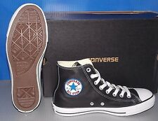 "CONVERSE ""CHUCK TAYLOR"" CT A/S HI in colors BLACK LEATHER MENS 9 WOMENS 11"
