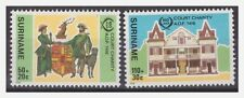 Surinam / Suriname 1986 100 year Court Charity OAF Dog Hunde Chien Deer MNH