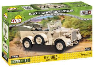 Cobi 2256 (178pcs) 1937 Horch 901 (KFZ 15) DAK with Soldier Figure