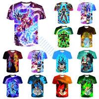 Dragon Ball Z Super Saiyan 3D T-Shirt Men Women Casual Sports Short Sleeve Tee