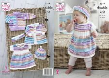 KINGCOLE 5219 BABY DK KNITTING PATTERN  14-22IN -not the finished garments