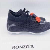 Puma Future 19.1 Netfit FG/AG Soccer Cleats Men Black/White 105531-02 Size 9