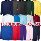 Mens & Womens Classic Sweatshirt Cotton/Polyester Jumper Plain Sweater lot
