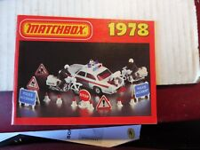CATALOGUE MATCHBOX 1978 : SERIE 1-75 / KING SIZE/ YESTERYEAR/ AVIONS/ BATEAUX