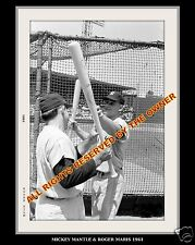 MICKEY MANTLE & ROGER MARIS 8 x 10 PHOTO DURING HOME RUN RACE SEASON AMAZING