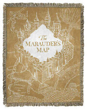 Nwt Marauder's Map Throw Harry Potter 46x60 Jac Blanket - Old Map Usa made