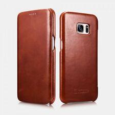 Samsung Galaxy S7 Edge Etui en cuir de luxe Vintage Marron
