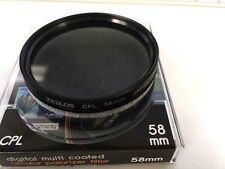 58mm Circular Polarizer CPL f/Canon Rebel T6i T6s T5i T4i 70D 80D 6D 7D 18-55mm