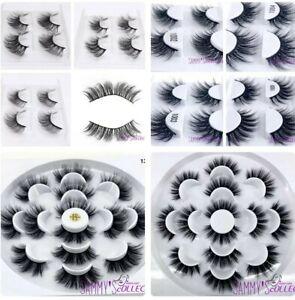 ❤️1-7 pairs 3D Mink False Top Eyelashes Long Thick Natural Makeup Soft Lashes❤