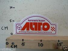 STICKER,DECAL AUTOVISIE KENNERS LEZEN AUTOVISIE A