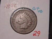 1875 INDIAN HEAD CENT G+ VG BETTER DATE COIN NICE COMBINED SHIPPING