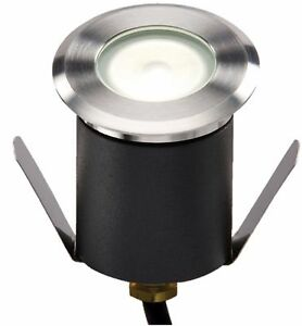 Knightsbridge LEDM07W Modern Outdoor LED Recessed Decking Light Energy Saving