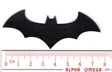 kiTki batman logo iron-on embroidered patch emblem applique knit weave badge n