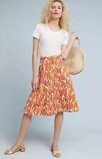 NWD Anthropologie Maeve Banana Grove Denim Midi Skirt Size 6