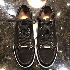 Jimmy Choo Miami women's  Kids patent leather & suede sneaker sz 35 4 US