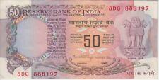 India Banknote P84b 50 Rupees Sig 83, Scarce, VF+