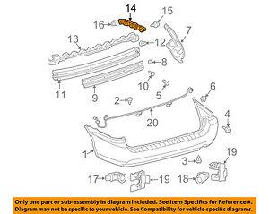 TOYOTA OEM 04-10 Sienna Rear Bumper-Bracket Left 52576AE010