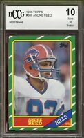 1986 Topps #388 Andre Reed Rookie Card Graded BGS BCCG 10 Mint+