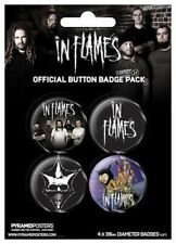 FLAMES DEATH METAL BROOCHES OFFICIAL OFFICIAL INFLAMES BADGE 80238