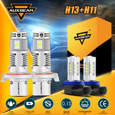 New listing For Mini Cooper 2007-2018 Auxbeam H13 Led Headlight H11 Fog Light Bulbs 6000K 4X