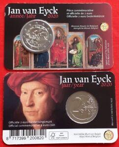 """Belgium 2 euro 2020 """"Painter Jan van Eyck"""" BiMetallic UNC"""