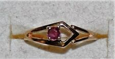 10K Y Gold Baby or Child's Earth Mined Ruby Ring 1.27 Grams 0.10 cts Size 3.25