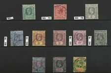 GOLD COAST -1913  SG71-82  USED CAT£100
