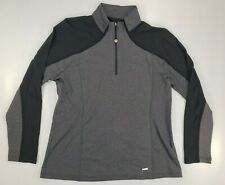 Sunice Mens 1/4 Zip Golf Shirt Black/Grey Long Sleeve - Xl