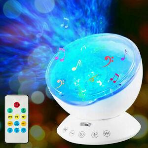 LED Projektor Sternenhimmel Ozean Lampe Wasserwellen-Welleneffekt Lautsprecher