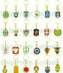 High Quality FIFA World Cup Country Soccer Team Logo Keychain Key chains - New