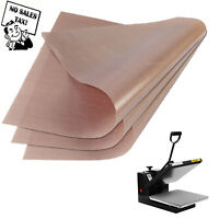 3 Pack Teflon Sheet 16x20 Heat Press Transfer Art Craft Supply Sewing Tool Add