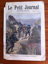 ?Le petit Journal illustré 28/06/1896; Arrestation d'un espion Italien