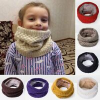 Unisex Warm Winter Knit Neck Warmer Circle Wrap Cowl Loop Snood Scarf Shawl