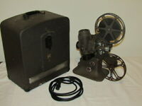 Vtg Bell & Howell Filmo Diplomat 16MM Film Projector w/ Case Design 173 Model A