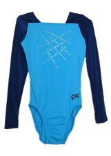 Gk Elite Jeweled Navy/Light Blue Gymnastics Leotard - Axs Adult Extra Small 4037