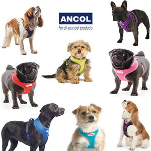 Ancol Soft Mesh Dog Puppy Comfort Harness Black Pink Blue Red Teal Purple Tartan