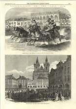 1866 Chariot Races Honouring King Padua Ring Platz Thein-kirche Prague