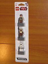 NiB Lego STAR WARS Minifig Minifigure Han Solo Paploo Ewok Trooper Magnet Set