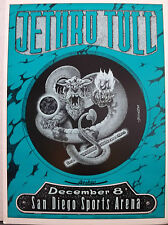 Jethro Tull Original 13x18 Concert Poster 12/8/1989 San Diego Sports Arena CA