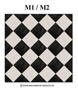 """Casa De Muñecas Miniaturas, suelos, en miniatura Azulejos.1 """"Sq.. Sf4. m1/m2 Azulejos"""