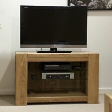 Padova solid oak furniture television cabinet stand unit