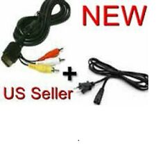 AC Power Cord & AV Audio Video Cable For SEGA DREAMCAST (6 MONTH WARRANTY)