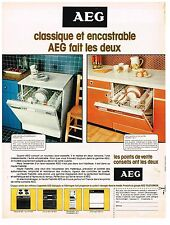 PUBLICITE ADVERSTISING   1977   AEG   lave vaisselle
