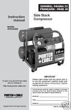 Porter Cable Air Compressor Instr. Manual # CPF23400S
