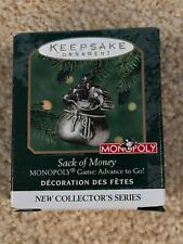 Hallmark Sack of Money Monopoly Mini Ornament First in the Series from 2020