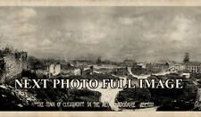 1918 Clearmont France Photo WW1 Meuse Argonne Sector Vintage Panoramic Photo