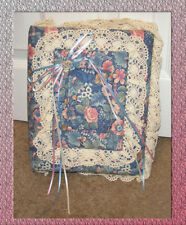 Vintage One of a kind Custom Made Cat Theme Floral Fabric covered Photo Album