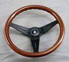 Nardi Steering Wheel Deep Dish Corn 350 mm Mahogany Wood Black Type A Horn