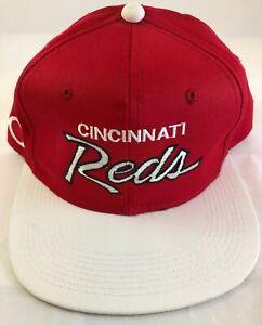 NEW Vtg Cincinnati Reds MLB Cap by Sports Specialties Script Snapback Hat Korea